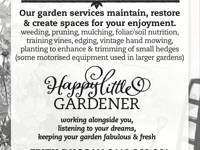 Happenings Sponsor – Happy Little Gardener